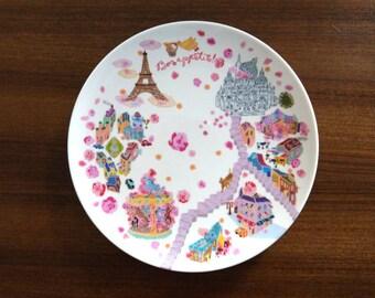 Paris Map Plate / Venice Map Plate