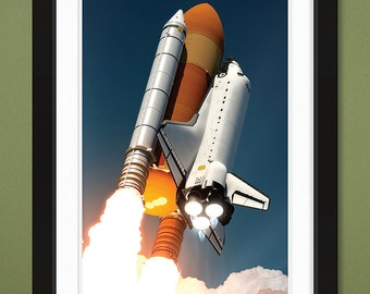 NASA – Space Shuttle Launch (12x18 Heavyweight Gloss Print)