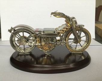 Motorcycle made from watch parts
