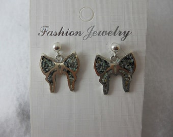 Mystic Sage Turquoise Butterfly Earrings Inlay