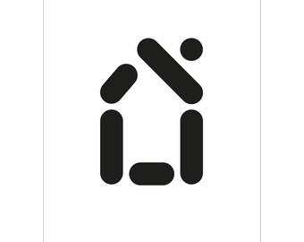 Point comma stroke - print house 50x70cm