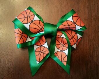 """5""""  Basketball Hair bow - Custom Colors for sports teams!"""