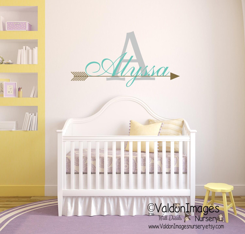 Arrow Wall Decor For Nursery : Arrow name wall decal nursery boho decor