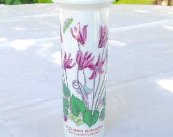 Portmierion vase decorated with cyclamen design