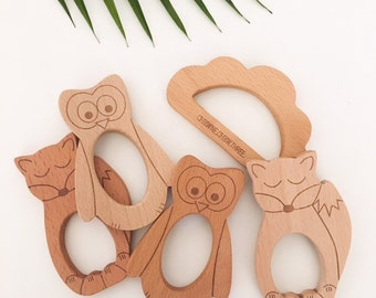 Natural Beech Wood Teethers