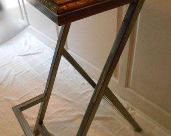 bar height barstool, industrial barstool, welded barstool