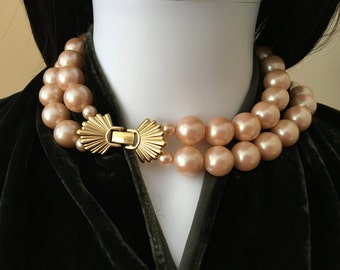Vintage Richelieu Cultured Marble Size Pearls in Champaign Color
