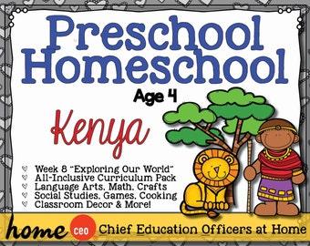 Homeschool Preschool Kenya Unit
