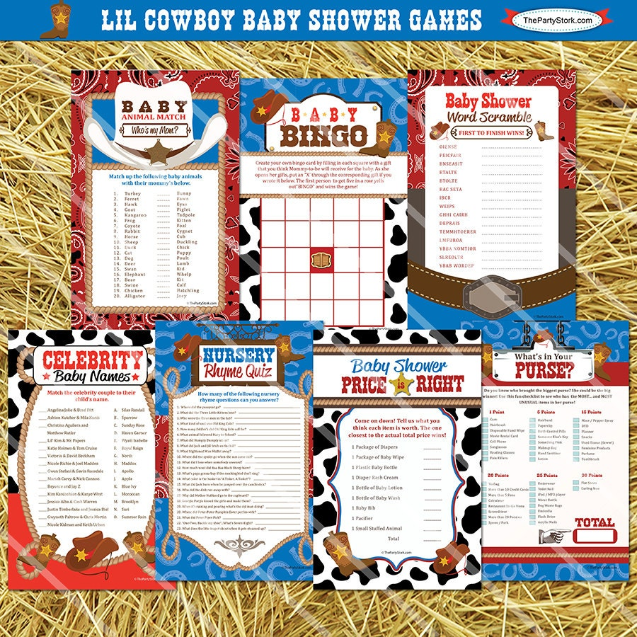 cowboy baby shower games printable western baby shower games