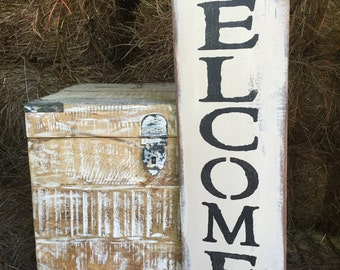 """Rustic Wood Sign """"Welcome To Our Porch"""" - Summer"""