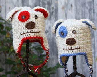 Puppy Dog Beanie - 3-6mos