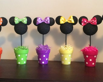 Minnie Mouse inspired centerpiece, Minnie Birthday party, Minnie party decoration, Minnie  baby shower