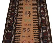 persian runner 3x6 persian rug hallway runner kitchen runner hallway rug brown runner rug handmade carpet runner vintage rug runner TB0291