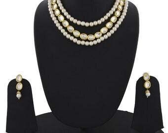 Alyza Pearls kundan pearls long haar set