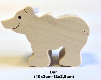 Wooden figure Bear / Handmade / Animals / Wooden toys / Forest / Waldorf / Montessori