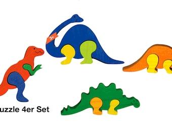 Mini Puzzle 4er set Dinos