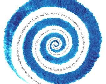 Print - 'Lord's Prayer Swirl'