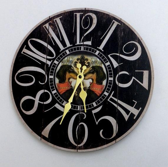 Dachshund Wall Clock Doxie Clock Sausage Dog Clock