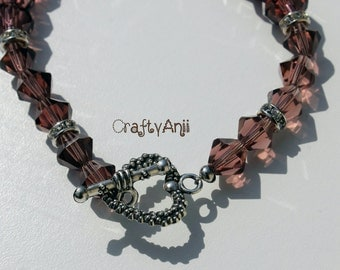 Bracelet - Light brown crystals
