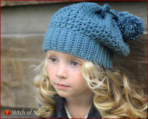 Crochet pattern the bellevue slouchy hat crochet beret pattern crochet pattern the bellevue slouchy hat crochet beret pattern 18 doll size toddler to adult sizes girls id 16011 from stitchofnature on etsy dt1010fo