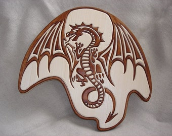 Wooden Dragon,  Wood carving,  Carving wall Dragon,  Carved panel Dragon, Hand made Dragon
