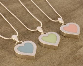 Pastel Heart Pendant
