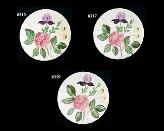 "Blue Ridge Plate JUNE BOUQUET 6.25"" Bread Cake (Buy 1, 2, 3) Southern Potteries Hand Painted Colonial Dinnerware (B11) 6315 6317 6319"