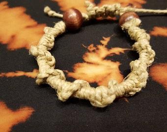 Spiral Woven Hemp Bracelet