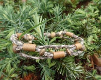 Camo Cord Hemp Bracelet