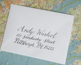 Calligraphy Outer Envelope- Handwritten for modern wedding