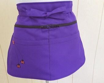 purple ladybugs apron