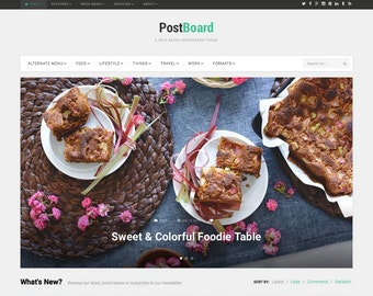 PostBoard – A Dynamic Grid Based WordPress Theme