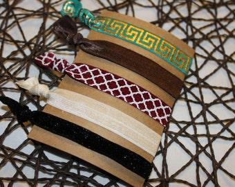 5 no crease hair ties- Gift for girl