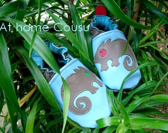 Slippers leather flexible for baby and child, single model