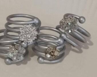 Custom Handmade Revamped Metal Napkin Rings Set of 4