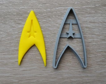 Star Trek Logo Communicator Trekkie Cookie Cutter Fondant Cutter
