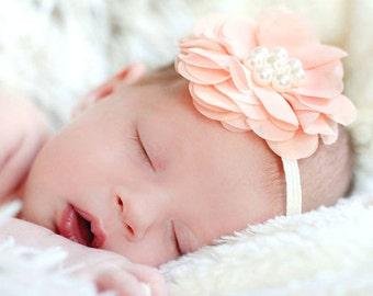 Baby Headband, Headband ,Baby girl Headband,Newborn Headband, Baby Bows, Shabby Chic Headband, Baby Hair Bands, Baby Headbands