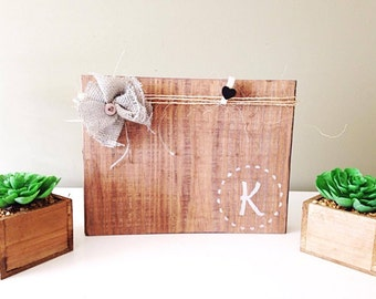 Rustic frames - Mothers Day gift - monogram picture frame -bridesmaid gift - wedding party gift - farmhouse picture frame - table decor