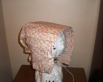Handmade Splint Bonnet Hat with Cardboard Splints