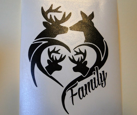 Items Similar To Deer Family For Car Truck Window Etc