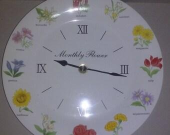 Monthly Flower Clock