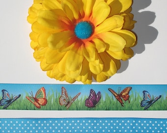 Inspiration Embellishment Kit Zinnia Silk Flower Grosgrain Ribbon Hair Bows Hats Home Decor