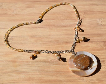 Shell and Stone statement necklace