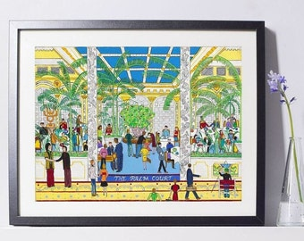 Plaza Hotel Palm Court Art Painting PSNY - Home Decor