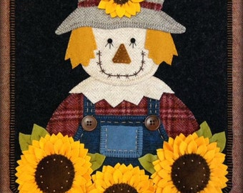 Mr. Fields Scarecrow Wool Applique PATTERN Wall Hanging