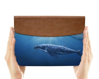 leather sleeve envelope for samsung galaxy tab s2 case samsung galaxy tab a case 8.0 9.7 giant whale