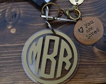 "3"" Monogram Acrylic Keychains"