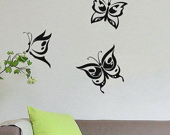3 Butterflies Wall Vinyl Sticker Decal Livingroom Nursery Children Mural Art