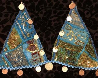 Turquoise Tribal Bra