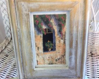 "Vintage oil painting, Small,  framed, signed and dated ""96"""